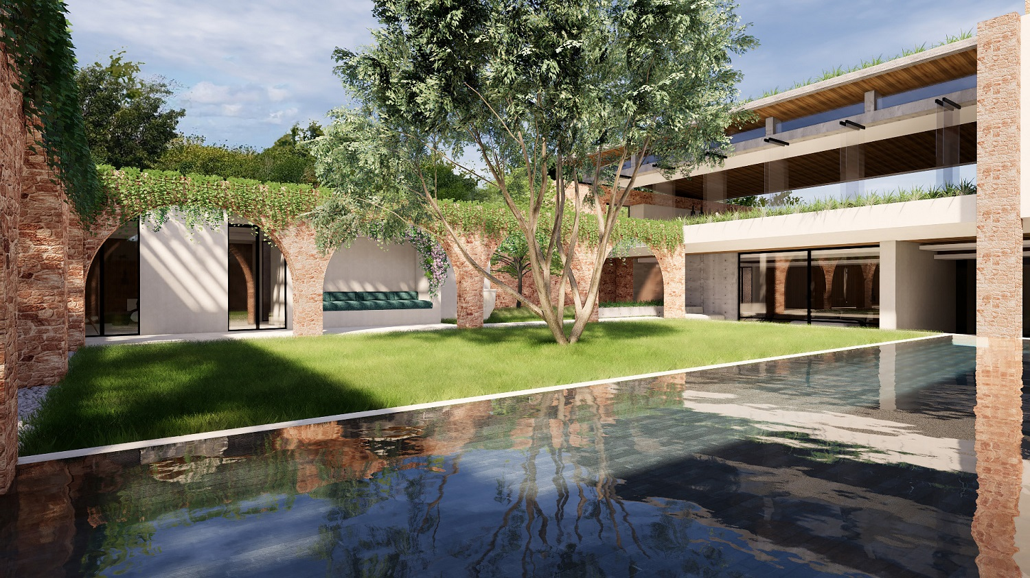 Projects Photo/S Villa - Sugio/courtyard2