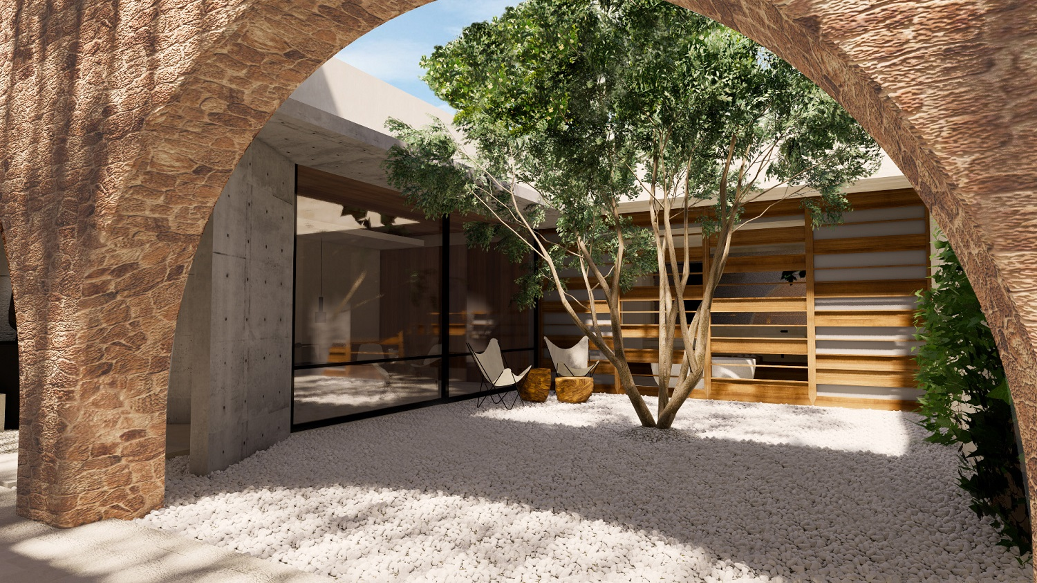 Projects Photo/S Villa - Sugio/guest-courtyard2