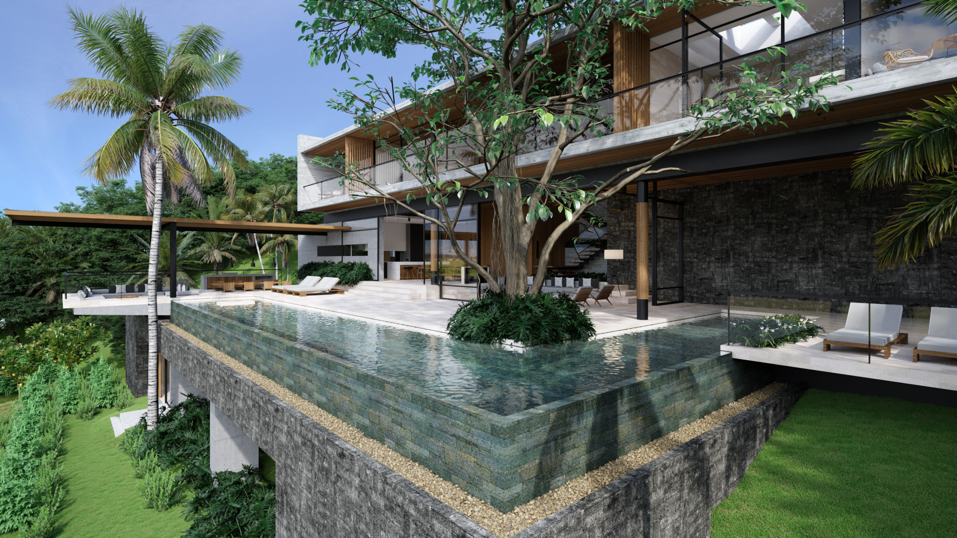 Projects Photo/Tampah Hills - TH55 (Villa W&T)/2-pool